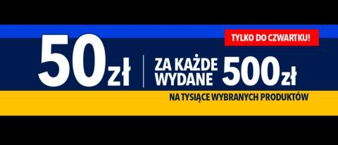 Promocja 50 zł za 500 zł w Rtv Euro Agd - kup taniej wybrane AGD!