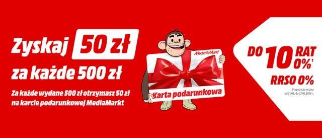 Kup wybrane sprzęty i odbierz 50 zł na karcie podarunkowej za każde wydane  500 zł w promocji Media Markt! 5b469df8cf