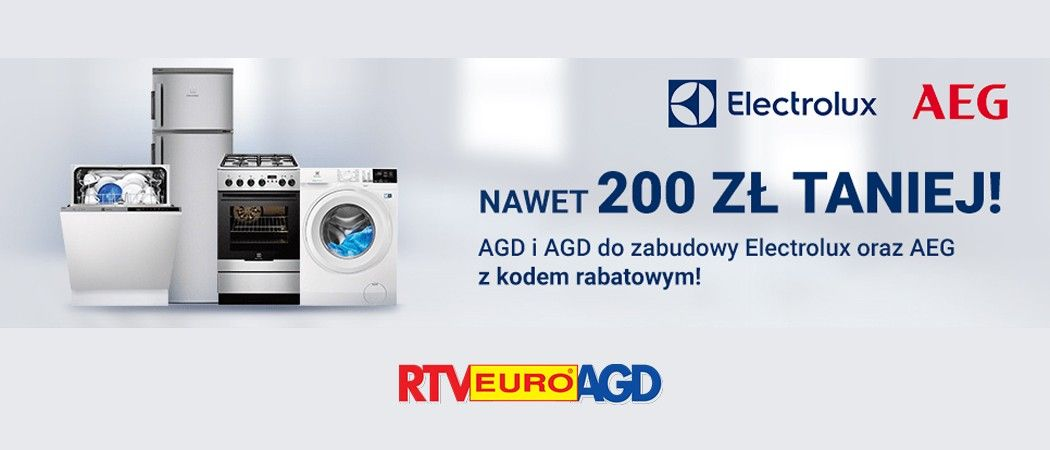 Kupon Rabatowy Rtv Euro Agd Na Tańsze Agd Electrolux I Aeg