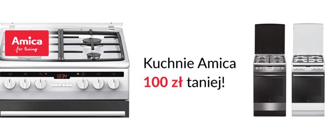 Kuchnie Amica 100 Zł Taniej W Sklepach Rtv Euro Agd